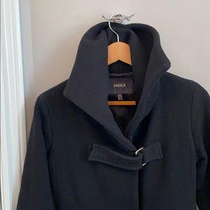 Stunning black coat - XS 70% wool